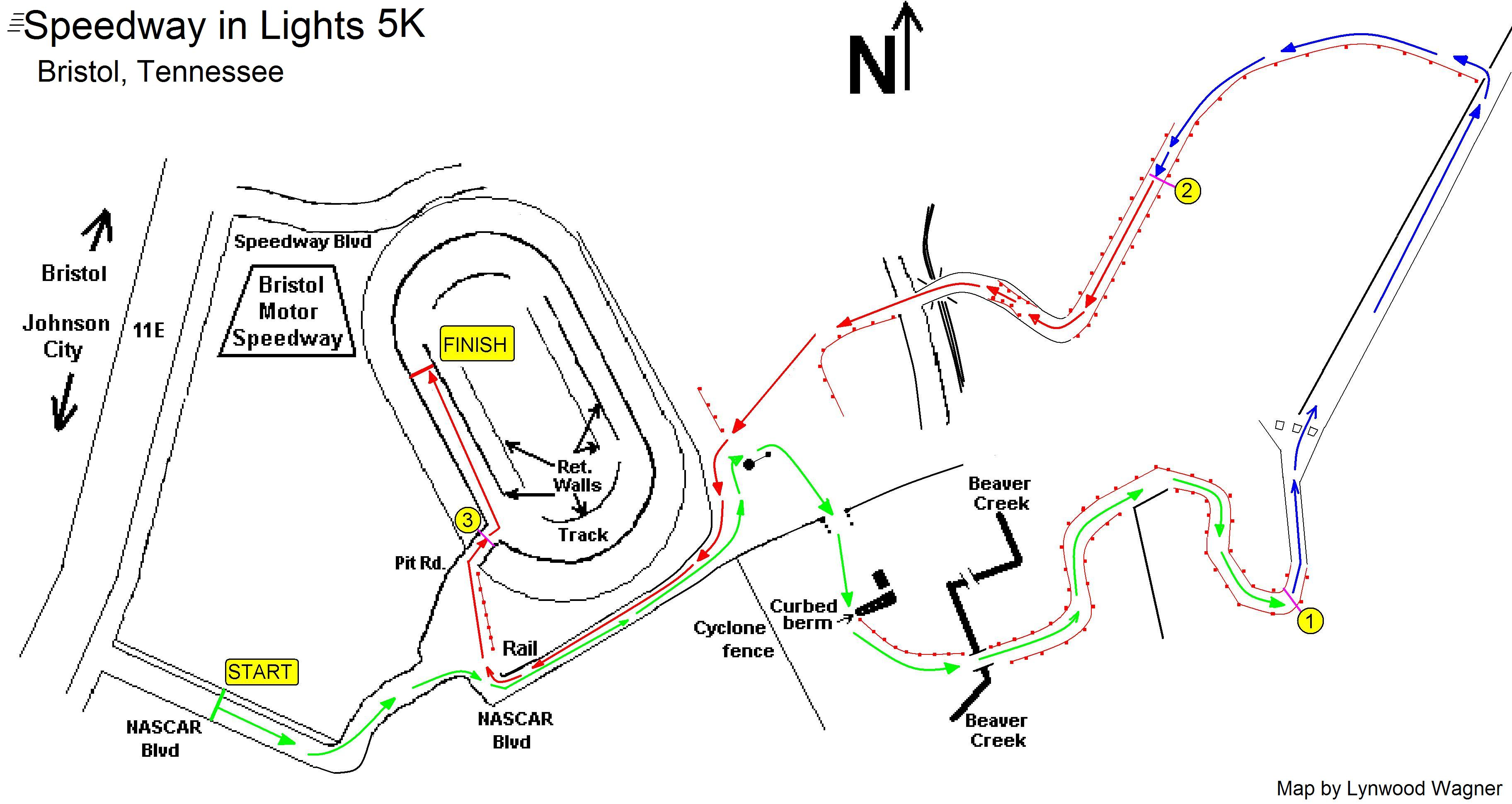 Sftc event calendar for Bristol motor speedway 5k 2017